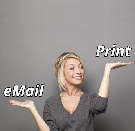 Print Mailing vs Email Mailing